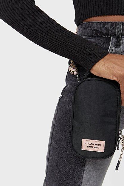 Stradivarius Kadın Siyah Omuz Askılı Telefon Çantası
