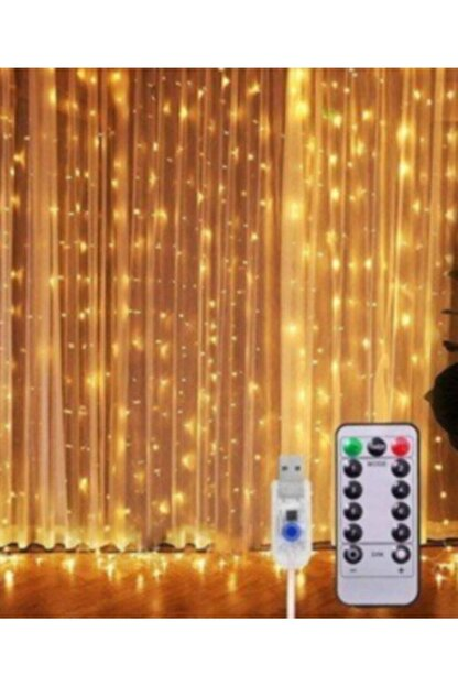 1001 LED Kumandalı 8 Ayrı Moda Sahip 3mx3m ( 300 Cm X 300 Cm ) Perde Led Peri Led Usb