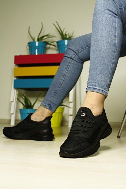 LETAO Kadın Siyah Spor Yürüyüş Ayakkabı