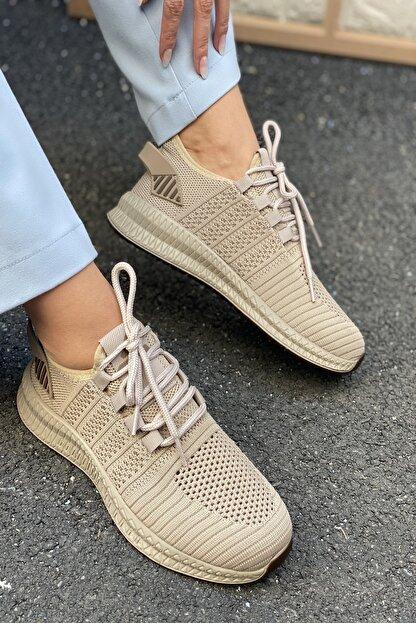 İnan Ayakkabı Unisex Kahve Triko Ayakkabı&Sneaker 21i500