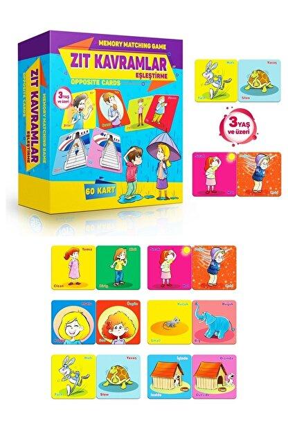 AyasEğiticiOyuncak Circle Toys Zıt Kavramlar Eşleştirme Zeka Kartları Oyunu Türkçe Ve Ingilizce Okul Öncesi