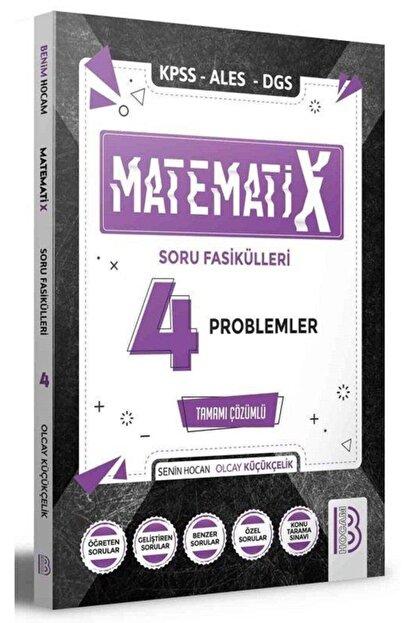 Benim Hocam Yayınları Benim Hocam 2021 Kpss Ales Dgs Matematix-4 Matematik Problemler Soru Fasikülleri Çözümlü