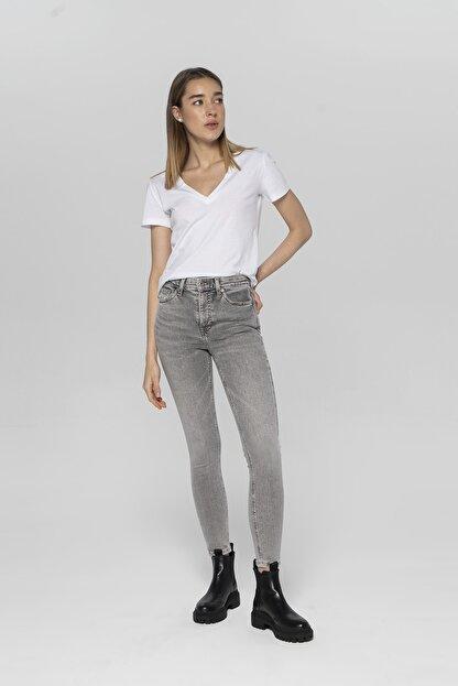 CROSS JEANS Judy Açık Gri Yüksek Bel Skinny Fit Jean Pantolon