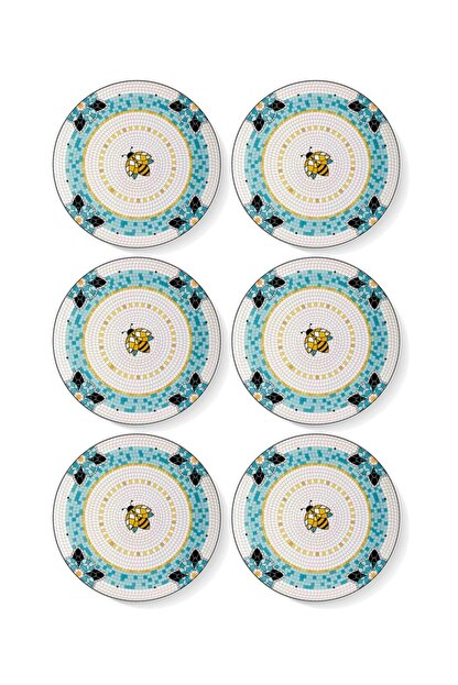 The Mia Patio Pasta Tabağı 6 Lı Set - 19 Cm