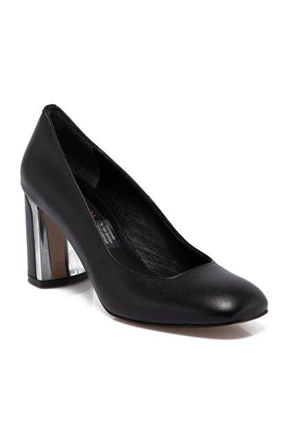 Tergan Siyah Deri Kadın Ayakkabı 65657a23