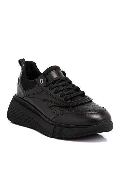 Tergan Kadın Siyah Deri Ayakkabı 64724n97