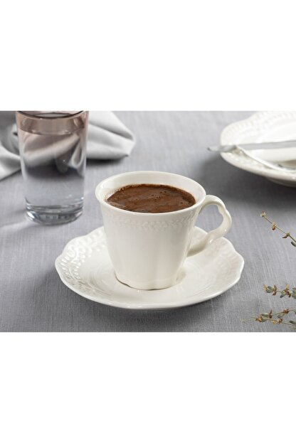 English Home Viyana Porselen 2'li Kahve Fincan Takımı 80 Ml Açık Krem