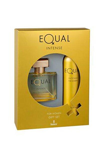 Equal Intense Edt 75 ml + 150 ml Deodorant Kadın Parfüm Seti  8690973028709