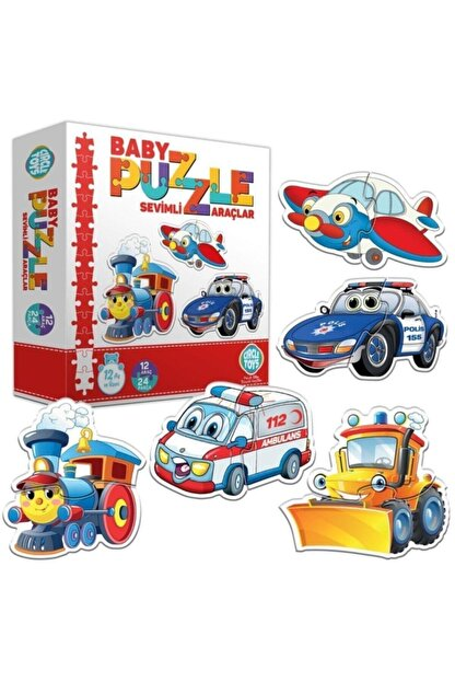 Circle Toys Baby Puzzle Sevimli Araçlar