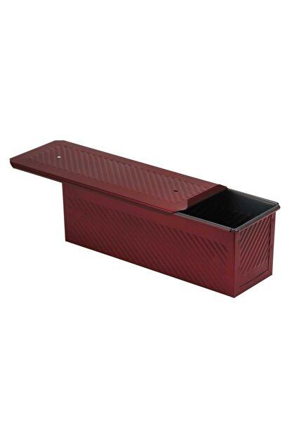 EKMAŞ Kırmızı Ekmek Kalıbı, 10x10x30 Cm