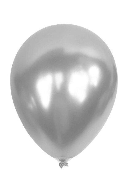 Kikajoy Metalik Gümüş Balon 12'li