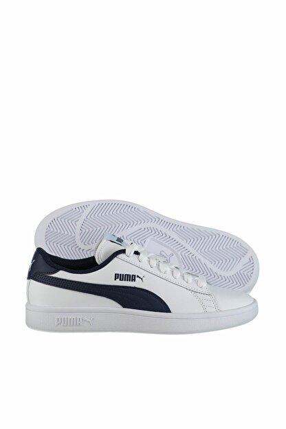 Puma Smash V2 L Jr Beyaz Kadın Sneaker 100346458