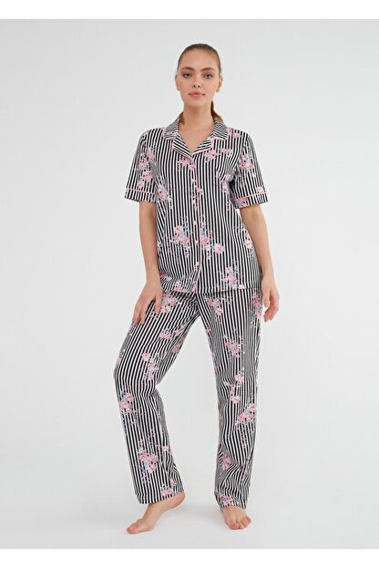 Suwen Martina Maskulen Pijama Takımı