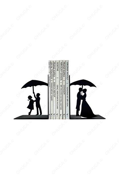ohuga Metal Kitap Tutucu Ilk Aşk Figürlü Kitap Desteği, Dekoratif Kitaplık