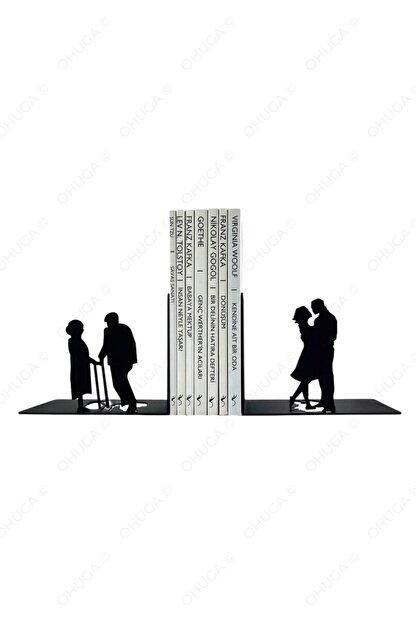 """ohuga Metal Kitap Tutucu """"sonsuz Aşk Figürlü Kitap Desteği, Dekoratif Kitaplık"""