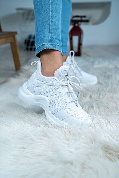 Bartrobel Kadın Günlük Spor Sneaker Ayakkabı Beyaz