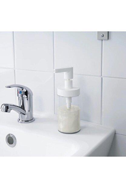 BARBUN Tackan Sıvı Sabunluk Cam Beyaz Kapaklı 2adet