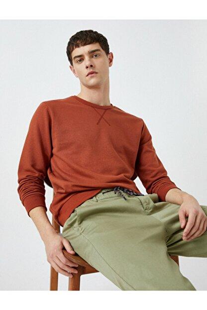 Koton Erkek Kırmızı Sweatshirt