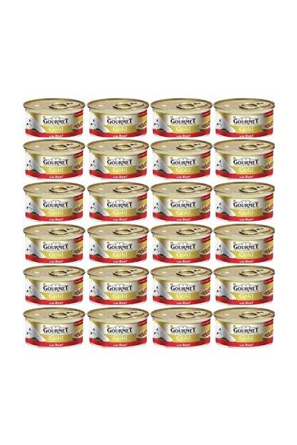 Gourmet Gold Parça Etli Sığır Etli Kedi Konservesi 85 Gr x 24 Adet