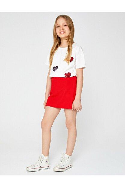 Koton Kız Çocuk Kırmızı Mini Etek