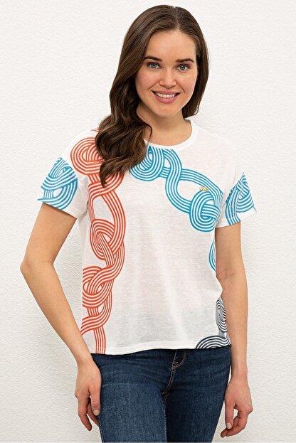 US Polo Assn Mavı Kadın T-Shirt