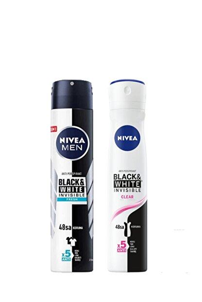 Nivea Men Black White Fresh Erkek Deodorant 200 ml + B&w Clear Kadın Sprey 200 ml Deodorant