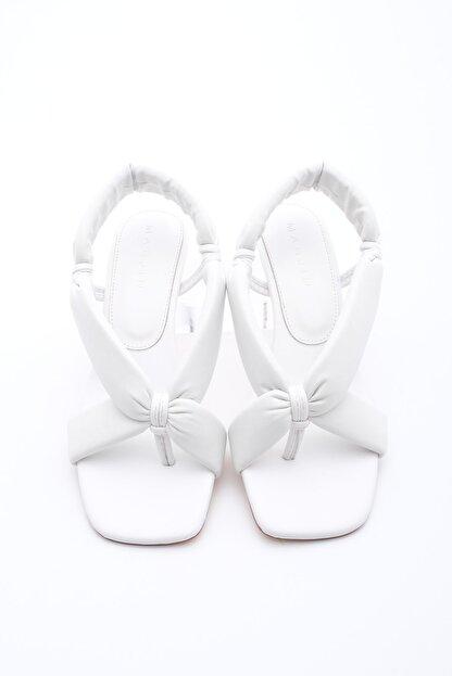 Marjin Kadın Parmak Arası Topuklu Sandalet Eltazbeyaz