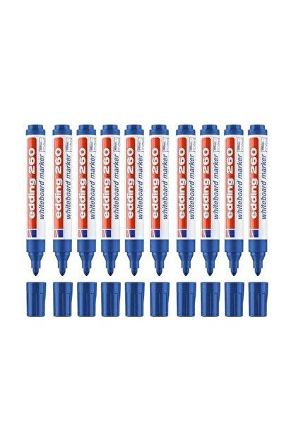 Edding 260 Yazı Tahtası Kalemi 10 Lu Kutu Mavi
