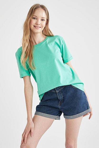 Defacto Basic Kısa Kollu Tişört
