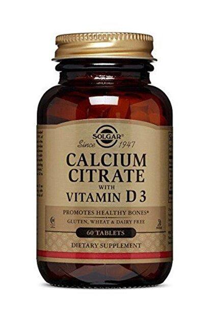 Solgar Calcium Citrate With Vitamin D 3 60 Tablet