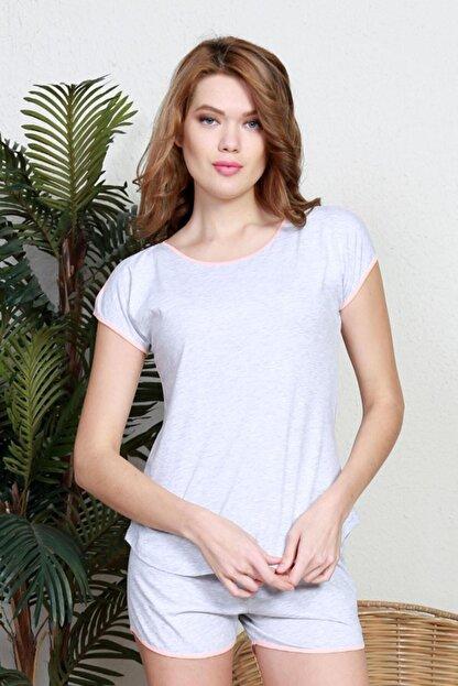 Pattaya Kadın Kısa Kollu Tişört Şort Pijama Takımı Y20s137-9111160000