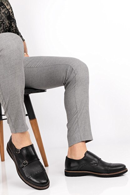 maximoda ErkekSiyah  Deri Klasik 5 Renk Ayakkabı