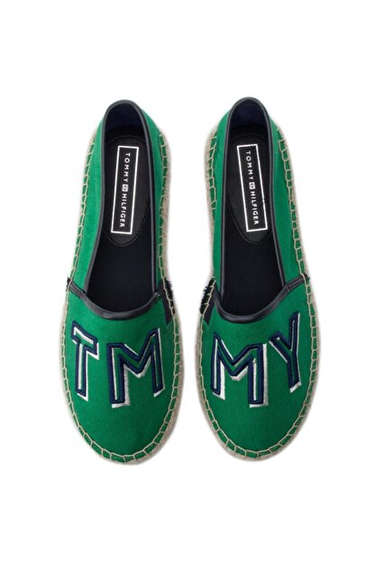 Tommy Hilfiger Colorful Yeşil Kadın Espadril