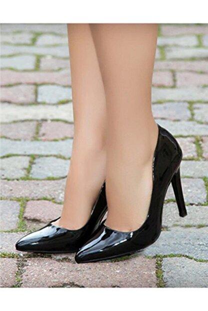 RUBRICA Kadın Siyah Rugan Stiletto Ma-021