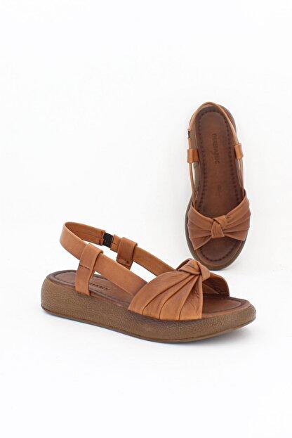 Deripabuc Hakiki Deri Taba Taba Kadın Deri Sandalet Dp-1841