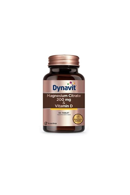 Dynavit Magnesium Citrate 200 Mg & Vitamin D / 60 Tb