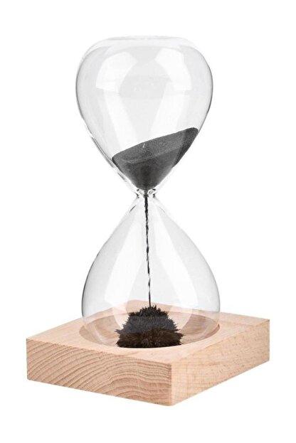 Viselia Kum Saati Mıknatıslı Kum Saati Ahşap Standlı Manyetik Kum Saati