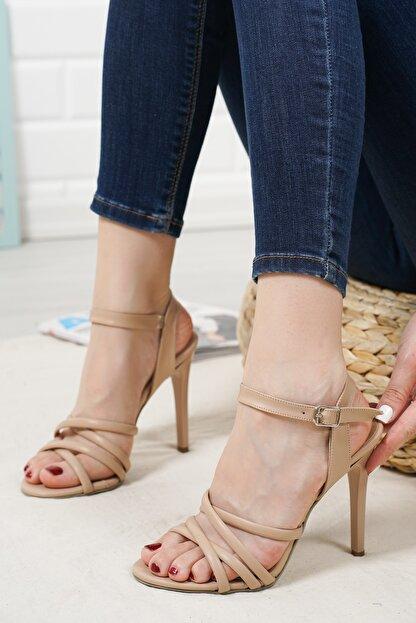 haylaz totti Nude Renk Topuklu Ayakkabı