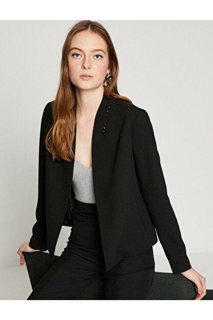 Koton Kadın Siyah Ceket 8YAK52422UW