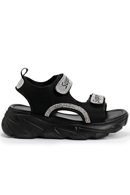 OZ DOROTHY Ozdorothy Kalın Taban Siyah Kadın Sandalet