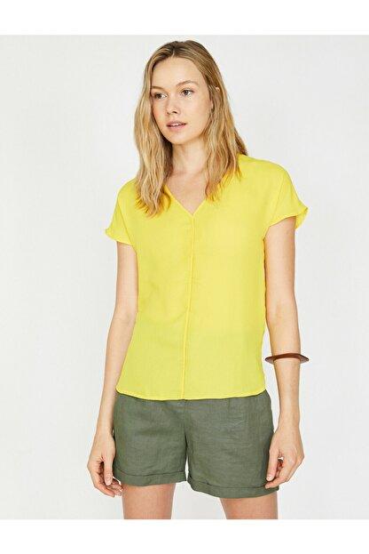 Koton Kadın V Yaka Bluz
