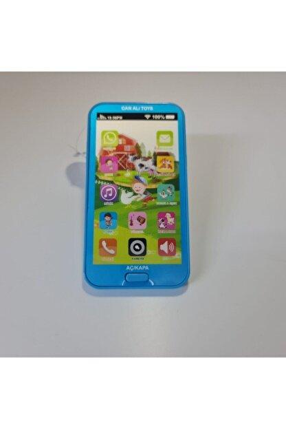 Can Ali Toys Çocuk Mavi Sesli Işıklı Müzikli Oyuncak Telefon