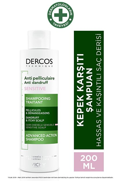 Vichy Dercos Anti-pel Shampoo Anti-ır 200 Ml