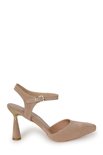 PUNTO Kadın Süet Kadeh Topuklu Ayakkabı