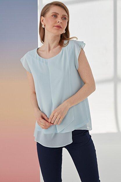 Journey Kadın Mavi  Kısa Kol Bluz