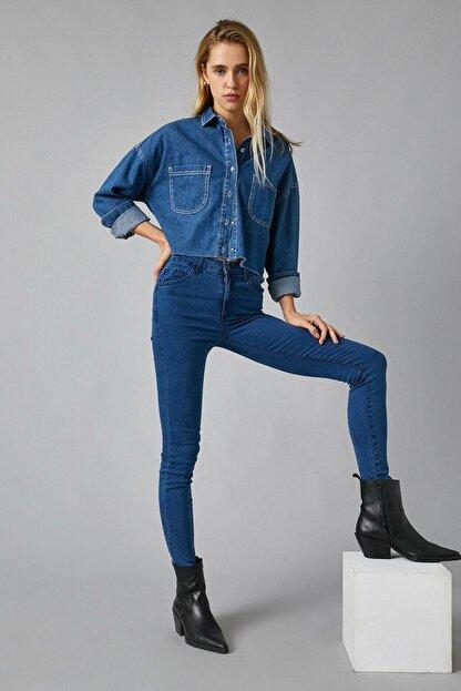 Koton Kadın Mıd Indıgo Jeans 1KAK47335DD