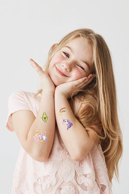 BP Tattoo Renkli Unicorn Karışık Çocuk Dövmesi