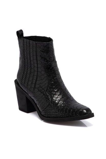 Tergan Kadın Siyah Topuklu Bot 64756a17