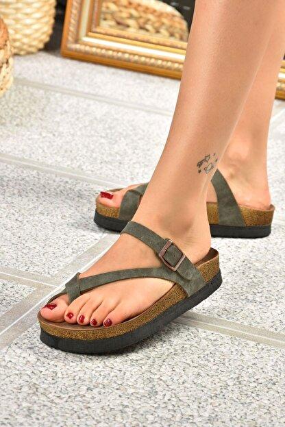 Fox Shoes Yeşil Süet Terlik B777753002