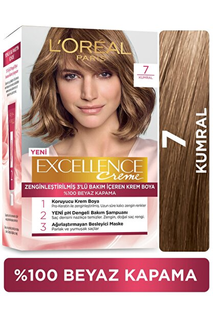 L'Oreal Paris Excellence Creme Saç Boyası 7 Kumral